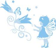 Feenhaftes kleines Mädchen-Schattenbild Stockbild