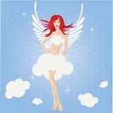Feenhaftes Mädchen, Engel lizenzfreie abbildung