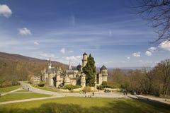 Feenhaftes mittelalterliches Schloss Lizenzfreie Stockfotos