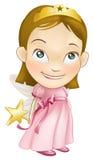 Feenhaftes Prinzessinkostüm-Mädchenkind Lizenzfreie Stockfotos