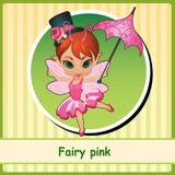 Feenhaftes Rosa - nettes Mädchen im rosa Kleid vektor abbildung