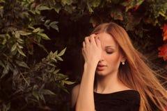 Feenhaftes weibliches Porträt. Stockfoto