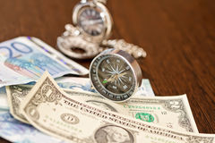 Fees are on a long trip required items Stock Images
