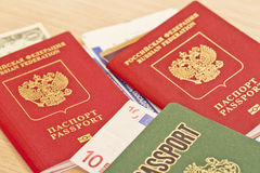 Fees before you travel. Things not to forget : passport, tickets. And cash Royalty Free Stock Photography