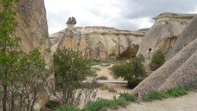 Feeschoorstenen in Kapadokya, Turkije royalty-vrije stock foto's