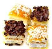 Feest baksel buitensporige cake Stock Foto's
