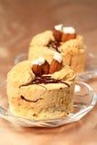 Feest koffie buitensporige cake Royalty-vrije Stock Fotografie