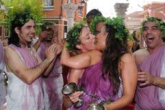 Feest van Bacchus.SPAIN Royalty-vrije Stock Afbeeldingen