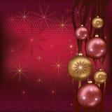 Feest van Kerstmis rood als achtergrond Stock Afbeelding