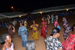 Feest van overwinning van FPI in het oosten van Ivoorkust Stock Foto