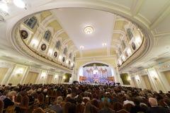 Feestavond gewijd aan de 100ste verjaardag van de alle-Russische Museumvereniging Stock Afbeelding