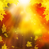Feestelijk Autumn Leaves, Abstract Autumn Background Illustration Stock Foto's