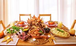 Feestelijk diner Royalty-vrije Stock Afbeeldingen