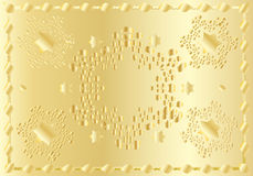 Feestelijk gouden oosters patroon royalty-vrije illustratie