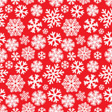 Feestelijk Kerstmis en Nieuwjaar naadloos snoflakespatroon Royalty-vrije Stock Afbeeldingen