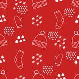Feestelijk Kerstmis Naadloos Patroon Vectorachtergrond voor ontwerp en decoratie stock illustratie