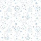 Feestelijk Kerstmispatroon die met varkens met Kerstmisdecoratie spelen, het symbool van het nieuwe jaar Pi stock foto