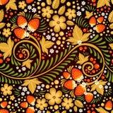 Feestelijk khokhloma naadloos patroon stock illustratie