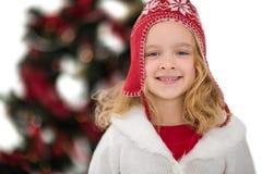 Feestelijk meisje in hoed en sjaal Royalty-vrije Stock Fotografie