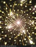 Feestelijk Nieuwjaar en Kerstmisvuurwerk royalty-vrije illustratie