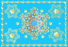 Feestelijk oosters patroon royalty-vrije illustratie