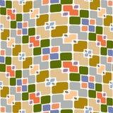 Feestelijk vierkant en bloempatroon vector illustratie