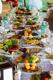 Feestelijk voedsel Stock Foto