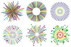 Feestelijk vuurwerk vector illustratie