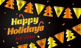 Feestelijke achtergrond, Gelukkige vakantie Nieuwe jaaruitnodiging stock illustratie