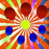 Feestelijke achtergrond met ballons. Royalty-vrije Stock Afbeeldingen