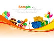 Feestelijke banner - vectorillustratie Stock Fotografie