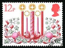 Feestelijke Britse Postzegel royalty-vrije illustratie