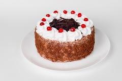Feestelijke cake op wit Stock Fotografie