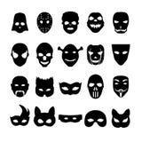 Feestelijke Carnaval-pictogrammen stock illustratie