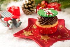 Feestelijke cupcake Stock Foto's