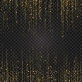 Feestelijke explosie van confettien Het goud schittert achtergrond voor de kaart, uitnodiging Vakantie Decoratief element vector illustratie