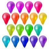 Feestelijke heldere ballons Stock Foto