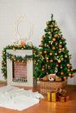 Feestelijke Kerstboom Stock Fotografie
