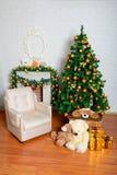 Feestelijke Kerstboom Royalty-vrije Stock Foto's