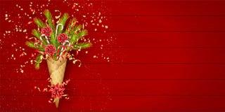 Feestelijke Kerstmisachtergrond stock afbeeldingen