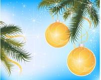 Feestelijke Kerstmisbollen Stock Illustratie