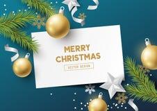 Feestelijke Kerstmissamenstelling Royalty-vrije Stock Foto