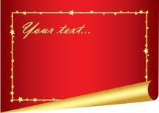 Feestelijke rode achtergrond met gouden frame Royalty-vrije Stock Foto's