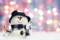 Feestelijke sneeuwman Royalty-vrije Stock Fotografie