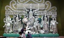 Feestelijke stemming van Durga Puja in Kolkata stock fotografie