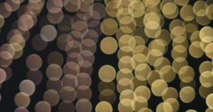 Feestelijke vaag helder bokeh De vage abstracte achtergrond van Kerstmislichten stock footage