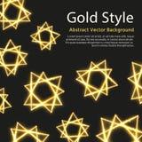 Feestelijke vectorachtergrond met gouden abstracte vormen royalty-vrije illustratie