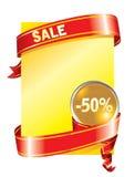 Feestelijke verkoopachtergrond (vector) royalty-vrije illustratie
