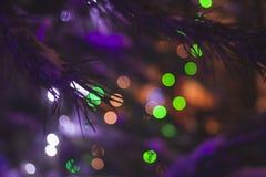 Feestelijke verlichting in de stad, mooie bokeh Royalty-vrije Stock Foto's