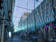 Feestelijke verlichting op de Straat van Bolshaya Dmitrovka in Moskou stock videobeelden